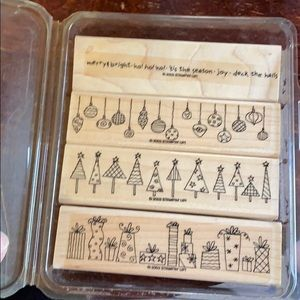 "2003 4-piece Stampin' Up! ""Crazy for Christmas"""